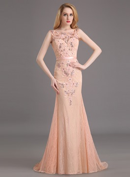 Ericdress Noble Deep-V Back Long Mermaid Evening Dress