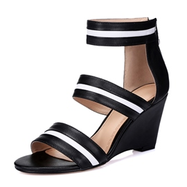 Popular Black Wedge Sandals