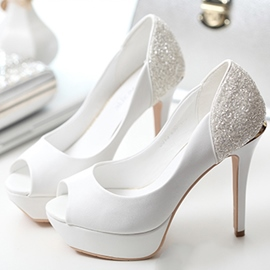 Ericdress Sequins Peep Toe Wedding Shoes