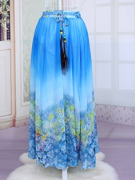 Ericdress Polyester Floral Pleated Dress