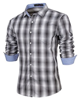 Ericdress Lapel Plaid Shirt