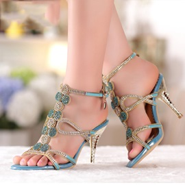 Ericdress High-quality Crystal Rhinestone Stiletto Sandals