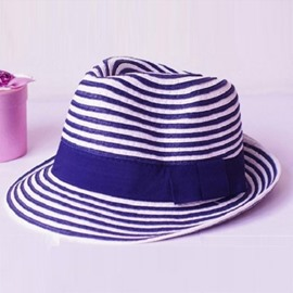 Ericdress Stylish Blue and White Stripe Sunhat