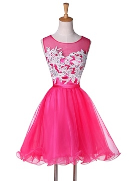 Ericdress Dramatic A-Line Jewel Neck Short Prom/Homecoming Dress