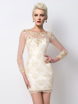 Ericdress Noble Appliques Beaded Short Cocktail Dress