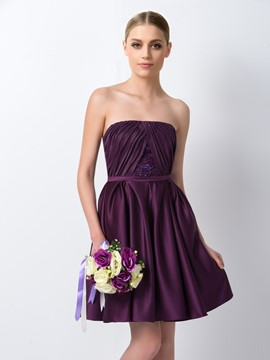 Ericdress Chic Strapless Short Bridesmaid Dress