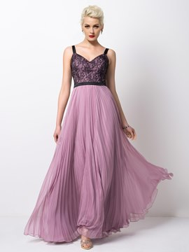 Ericdress Courtlike Lace Straps Floor-Length Evening Dress