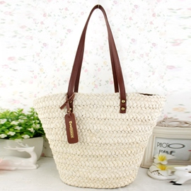 Ericdress Rivet Decorated Knitted Tote Bag