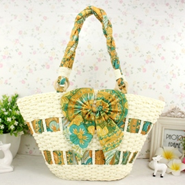 Ericdress Bowknot Decorated Knitted Tote Bag