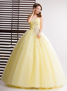 Ericdress Sparkling Sweetheart Floor-Length Ball Gown Quinceanera Dress