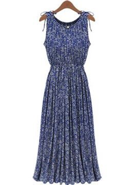 Ericdress Blue Maxi Dress