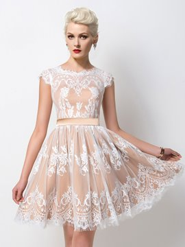 Ericdress Sumptuous Lace Ribbons A-Line Cocktail Dress