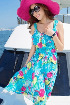 Ericdress Flower Print Maximum Style Dresses