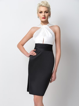 Ericdress Classic Ruched Sheath Short Cocktail Dress