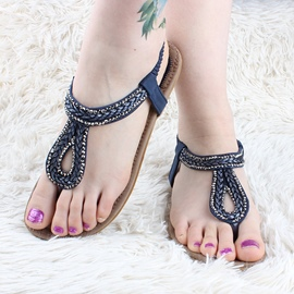 Ericdress Bright Rhinestone Clip-toe Flat Sandals