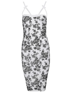 Ericdress Modern Floral Print Sheath Short Little Party Dress