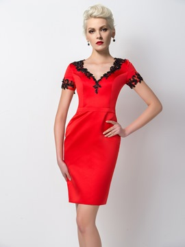 Ericdress Wonderful Appliques Sheath Short/Mini Cocktail Dress