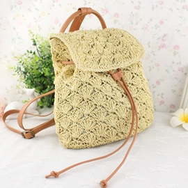 Ericdress All-Match Drawstring Knitted Backpack