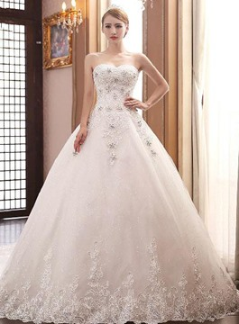 Ericdress Amazing Sweetheart Cathedral Train Wedding Dress