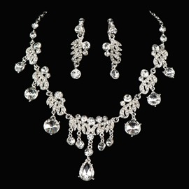 Ericdress Pretty Alloy Rhinestone Jewelry Set