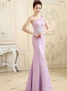 Ericdress Dramatic One-Shoulder Mermaid Long Evening Dress