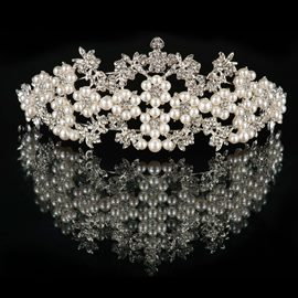 Ericdress Charming Pearls Alloy Tiara
