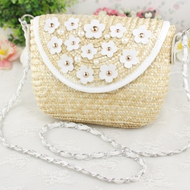 Ericdress Cute Daisy Flower Embellished Knitted Shoulder Bag