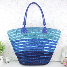 Ericdress Gradient Color Knitted Tote Bag