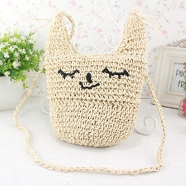 Ericdress Cute Cartoon Pattern Knitted Shoulder Bag