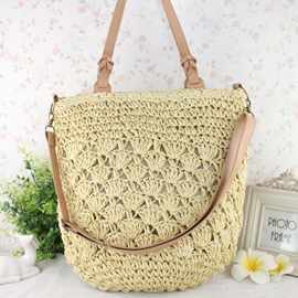Ericdress Simple Style Solid Color Knitted Tote Bag