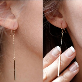 Ericdress Street Tassel Pendant Stud Earrings