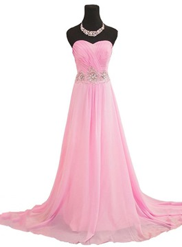 Ericdress Pretty Sweetheart Beaded Ruffle Long Evening Dress