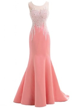 Ericdress bewundernswert Juwel Hals Perlen Mermaid langes Abendkleid