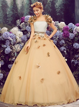 Ericdress Applliques Perle Ball Gown Quinceanera Kleid