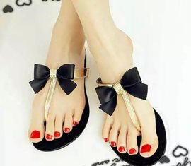 Sweet Bowknot Beach Flat Sandals