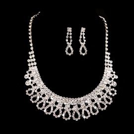 Ericdress Luxury Rhinestone Alloy Wedding Jewel Set