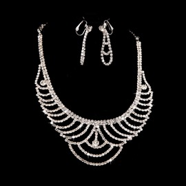 Ericdress Chic Alloy Wedding Jewel Sets (Including Necklace and Earrings )
