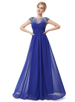 Ericdress Delicate Jewel Neck Appliques Evening Dress