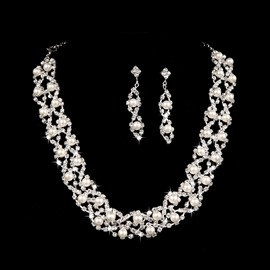 Ericdress Pretty Pearls Wedding Jewel Sets