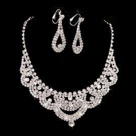 Ericdress Amazing Rhinestone Wedding Jewel Set