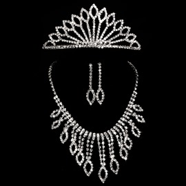 Ericdress Chic Alloy Wedding Jewel Sets (Including Necklace Earrings and Tiara)
