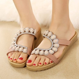 Lovely Pearl Casual Flat Sandals