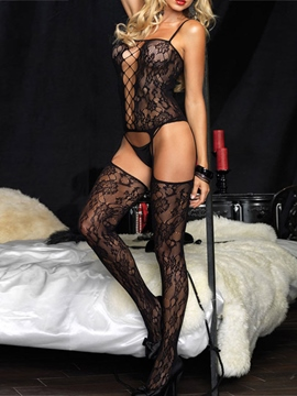 Ericdress Lace Hollow Spaghetti Straps Teddy