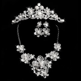 Ericdress Beautiful Flowers Alloy Wedding Jewel Set
