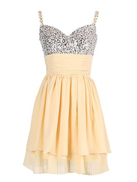Ericdress Exquisite Straps Beaded Ruched Short Homecoming Dress