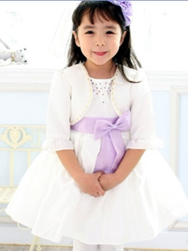 Ericdress Candy Color Short Sleeve Girls Dress