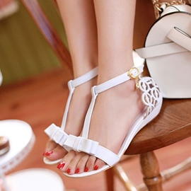 Hollow-outs Bowknot Decoration Flat Sandals