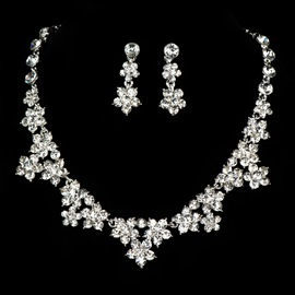 Ericdress Amazing Alloy Rhinestone Wedding Jewel Set