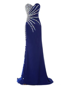 Ericdress Glittering Sweetheart Beaded Floor-Length Sheath Evening Dress