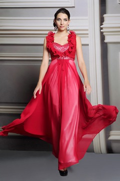 Ericdress Alluring A-Line Floor-Length Sequins Evening Dress